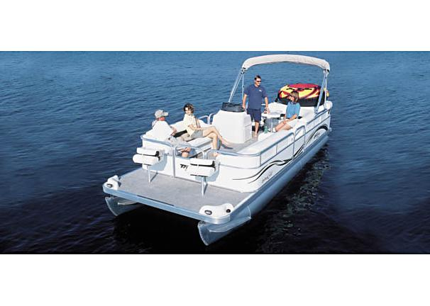 2005 Triton Summit Pontoon 240 FS Gold