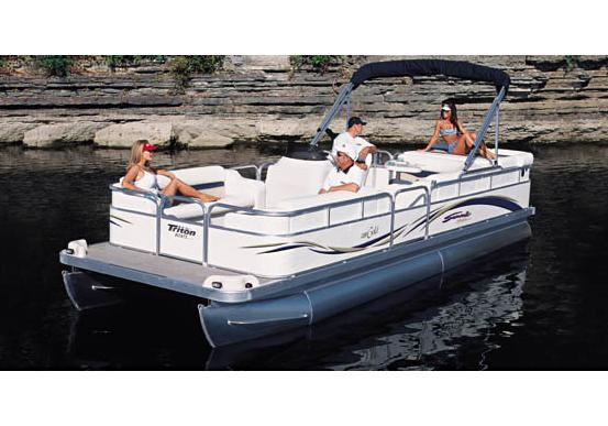 2005 Triton Summit Pontoon 240 Gold